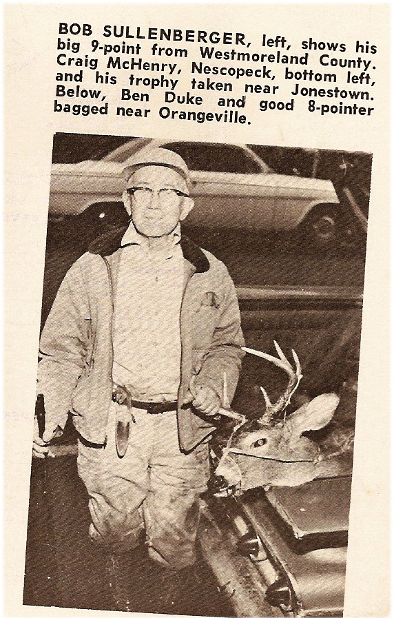 Benjamin C. Duke, Sr and his last deer