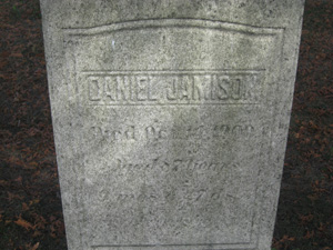 Daniel Jamison, great great grandfather of Richard A. Jameson and father of Benjamin F. Jamison